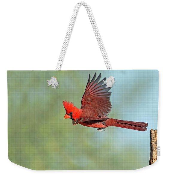 Cardinal On A Mission Weekender Tote Bag
