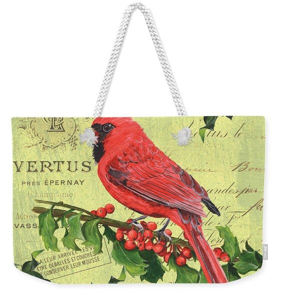 Cardinal Peace Weekender Tote Bag