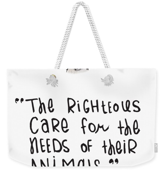 Care For Animals Weekender Tote Bag