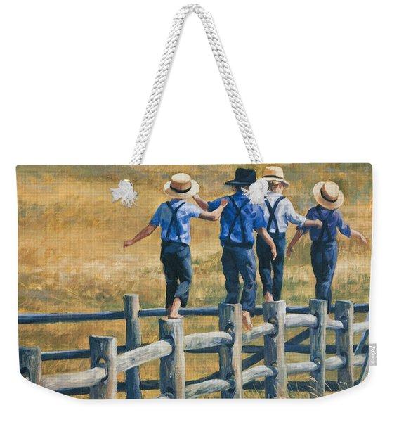 Carefree Life Weekender Tote Bag