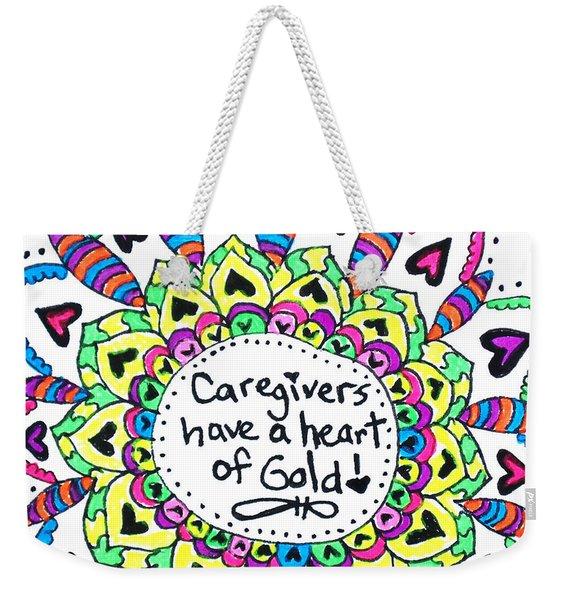 Caregiver Flower Weekender Tote Bag