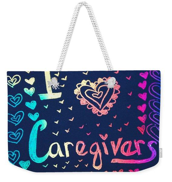 Caregiver Rainbow Weekender Tote Bag