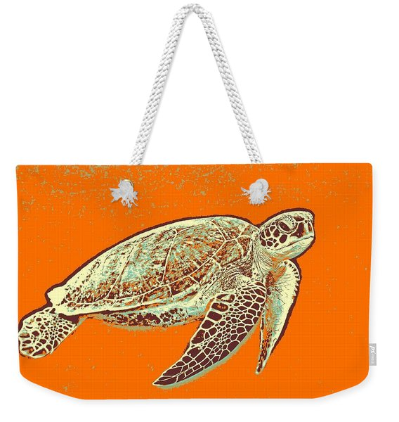 Caretta Caretta Sea Turtle Weekender Tote Bag