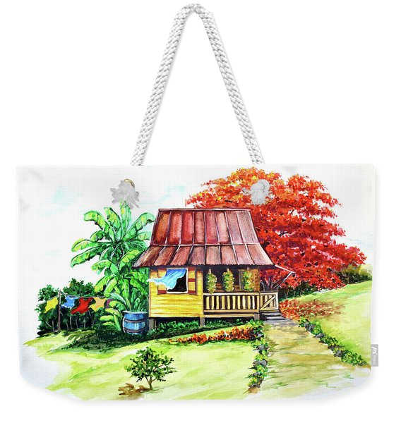 Caribbean House On The Hill Weekender Tote Bag