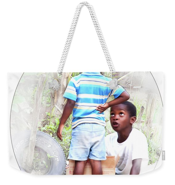 Caribbean Kids Illustration Weekender Tote Bag