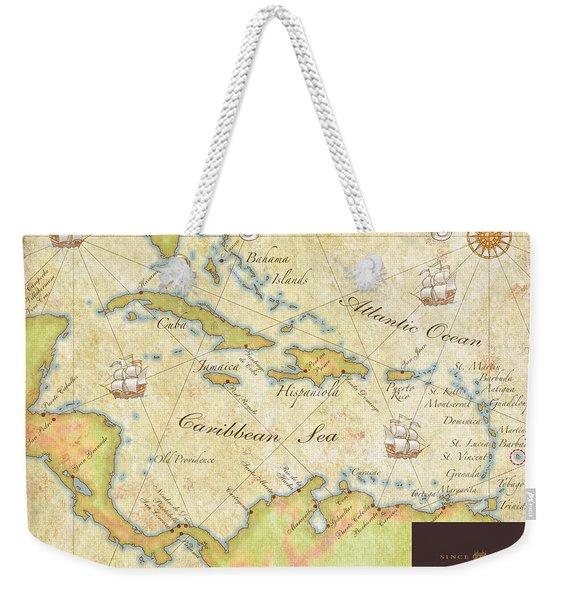 Caribbean Map II Weekender Tote Bag