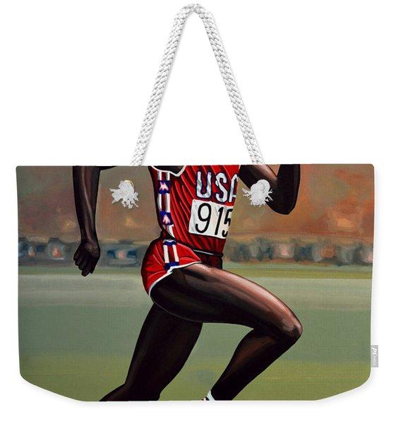 Carl Lewis Weekender Tote Bag
