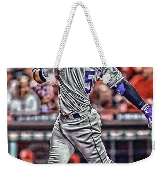 Carlos Gonzalez Colorado Rockies Art 1 Weekender Tote Bag