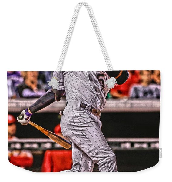 Carlos Gonzalez Colorado Rockies Art 2 Weekender Tote Bag
