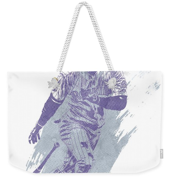 Carlos Gonzalez Colorado Rockies Water Color Art 1 Weekender Tote Bag