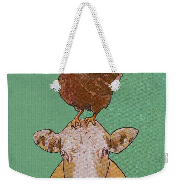 Carlyle The Cow Weekender Tote Bag