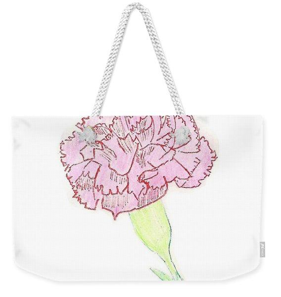 Carnation Weekender Tote Bag
