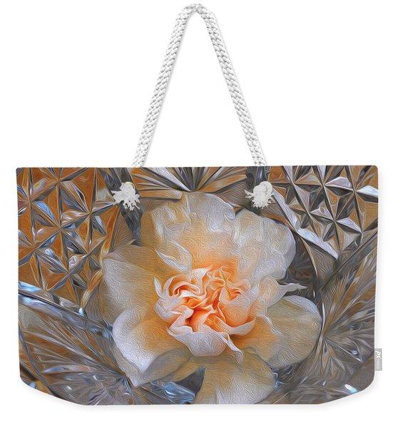 Carnation In Cut Glass 7 Weekender Tote Bag