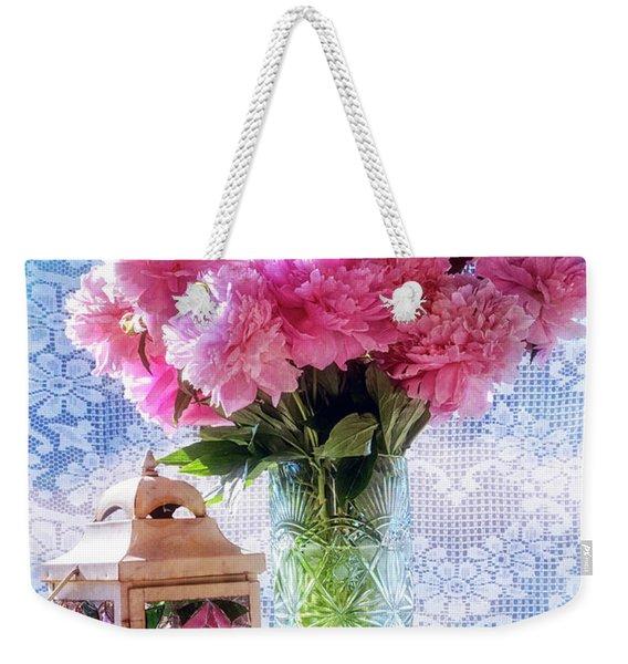 Carnations On The Windowsill Weekender Tote Bag