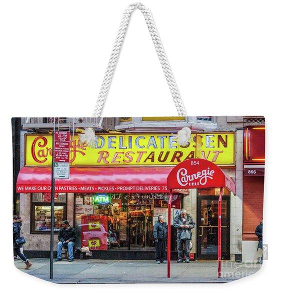 Carnegie Deli Weekender Tote Bag