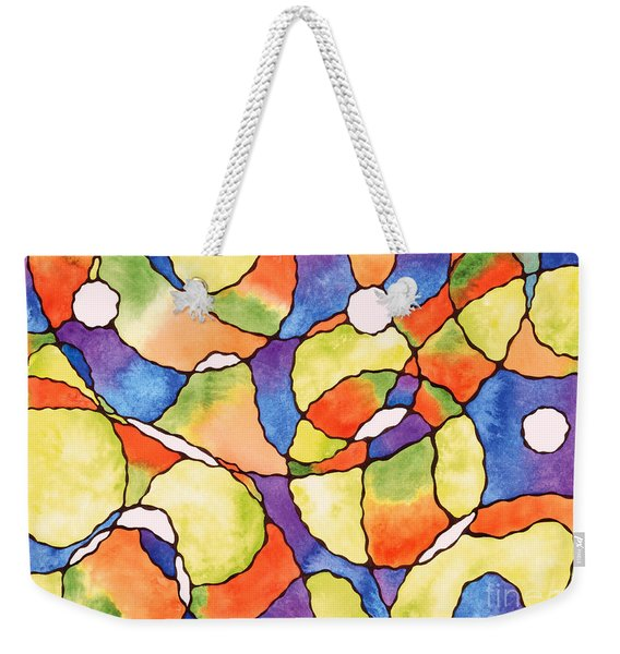 Carnival Balloons Watercolor Weekender Tote Bag