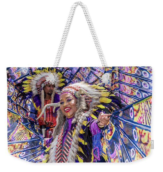 Weekender Tote Bag featuring the photograph Carnival by Rachel Lee Young