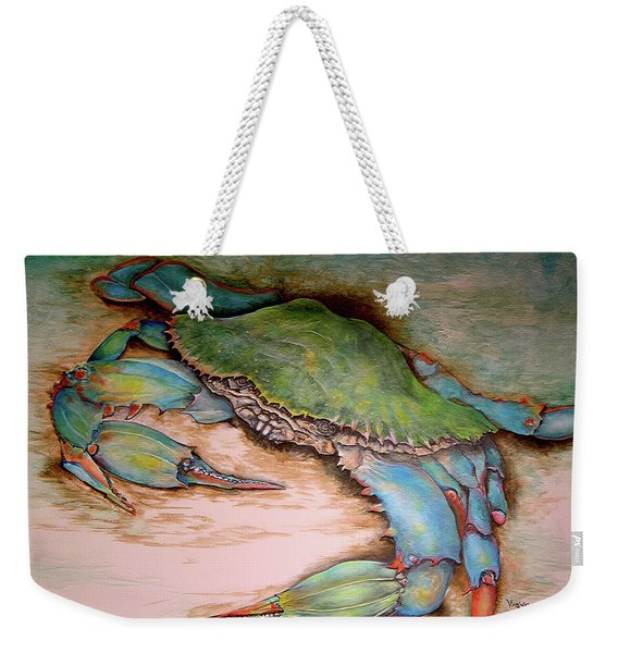 Carolina Blue Crab Weekender Tote Bag