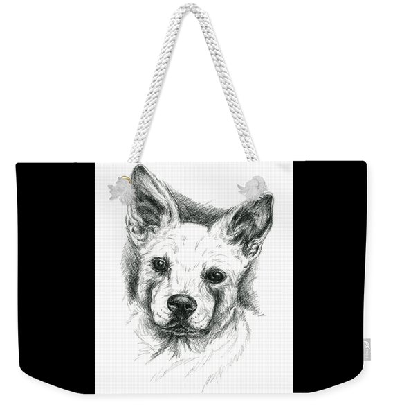 Carolina Dog Charcoal Portrait Weekender Tote Bag