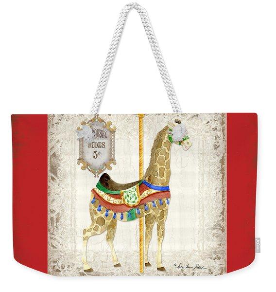 Carousel Dreams - Giraffe Weekender Tote Bag