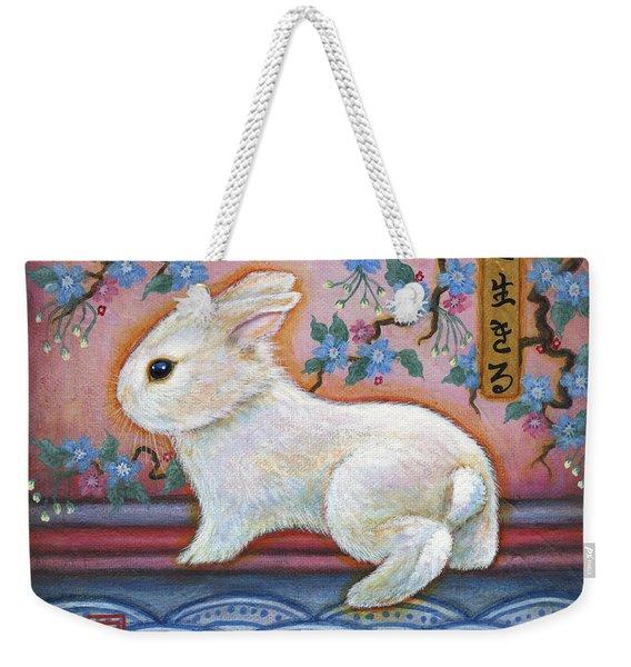 Carpe Diem Rabbit Weekender Tote Bag