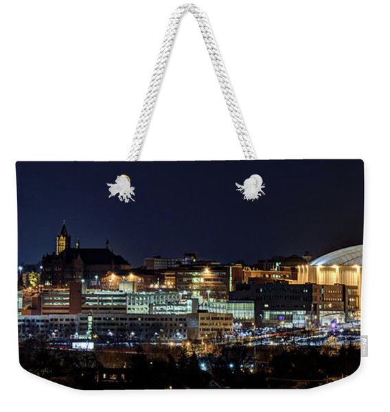 Carrier Dome And Syracuse Skyline Panoramic View Weekender Tote Bag