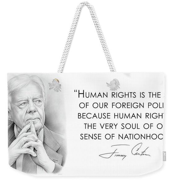 Carter On Human Rights Weekender Tote Bag
