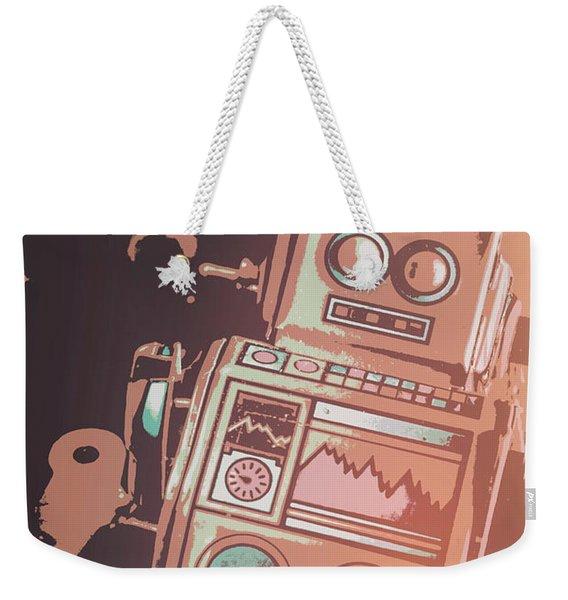 Cartoon Cyborg Robot Weekender Tote Bag
