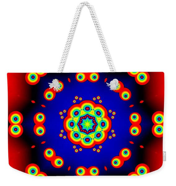 Cartoon Eyes Fractal Mandala Weekender Tote Bag