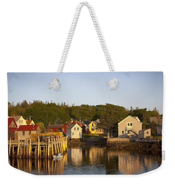Carvers Harbor At Sunset, Vinahaven, Maine Weekender Tote Bag