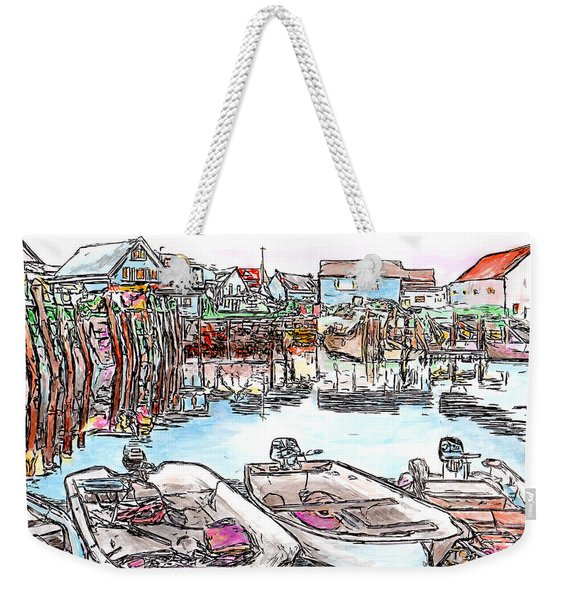 Carvers Harbour With Boats , Vinal Haven,  Maine Weekender Tote Bag