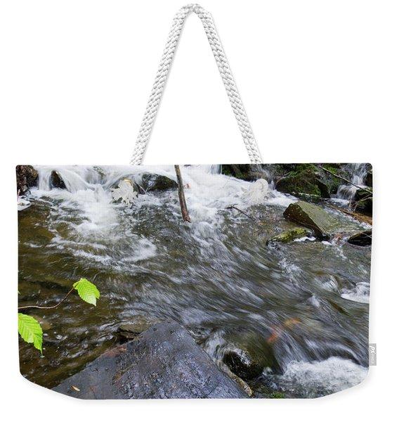 Cascade Falls Stream, Farmington, Maine  -30329 Weekender Tote Bag