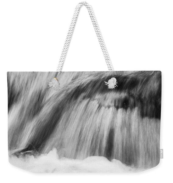 Cascade In Monochrome Weekender Tote Bag