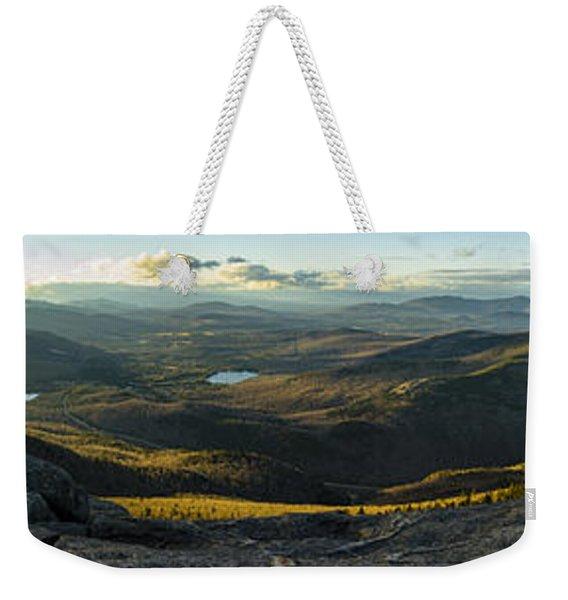 Cascade Mountain Sunset Weekender Tote Bag