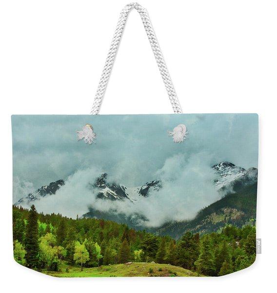 Cascading Storm Clouds Weekender Tote Bag