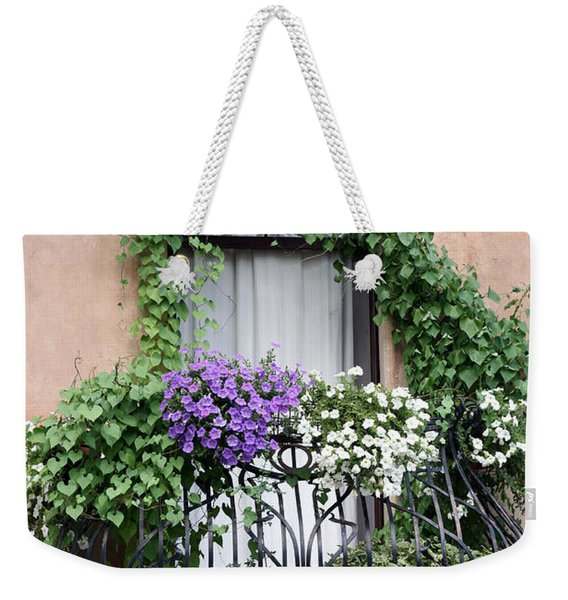 Cascading Floral Balcony Weekender Tote Bag