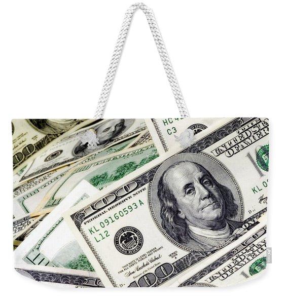 Cash Money Weekender Tote Bag