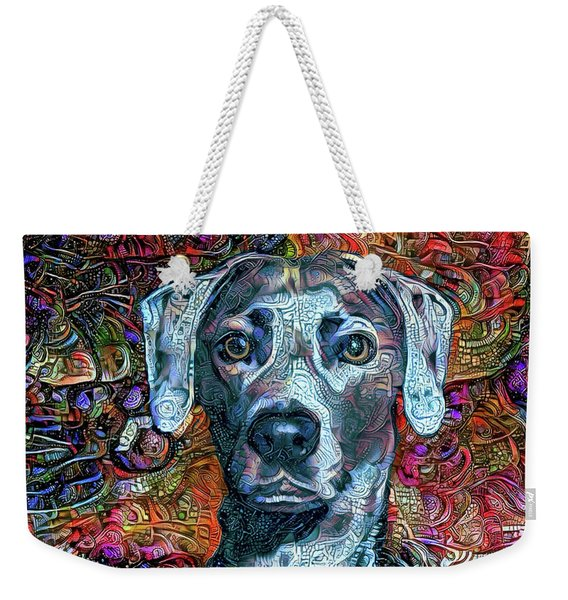 Cash The Blue Lacy Dog Weekender Tote Bag