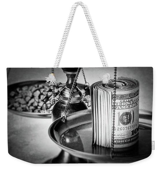 Cash Versus Gold Weekender Tote Bag