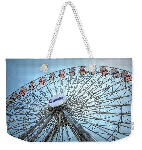 Casino Pier Ferris Wheel Weekender Tote Bag