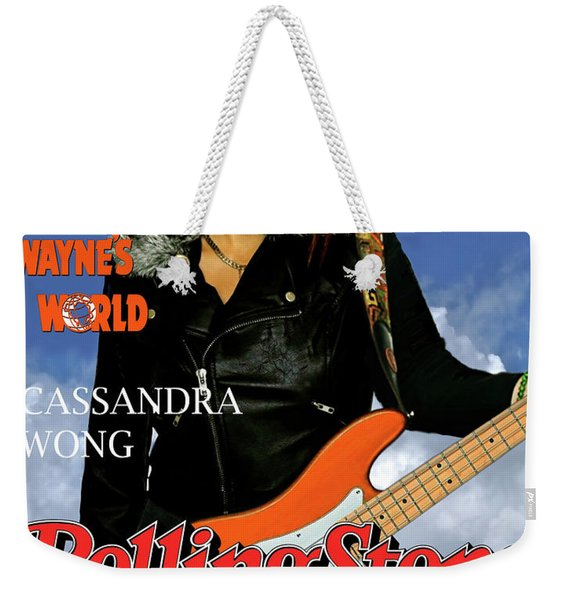 Cassandra Wong, Rolling Stone,  Wayne's World, Tia Carrere, Aurora, Il, 1992, Audition Fender  Weekender Tote Bag