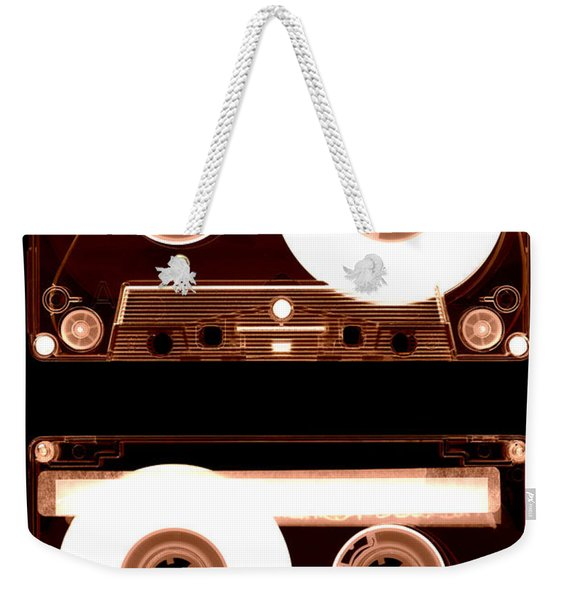Weekender Tote Bag featuring the photograph Cassette Tapes by Clayton Bastiani