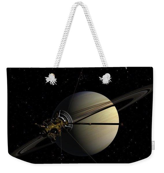 Cassini Orbiting Saturn Weekender Tote Bag