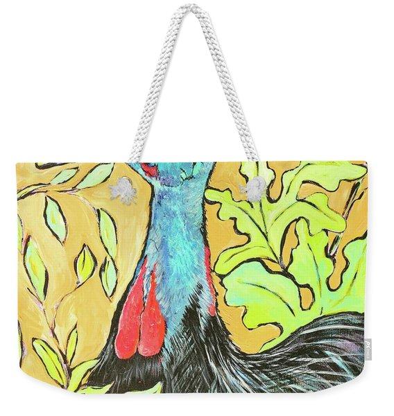Cassowary Bird Painted From Zoo Atlanta Weekender Tote Bag