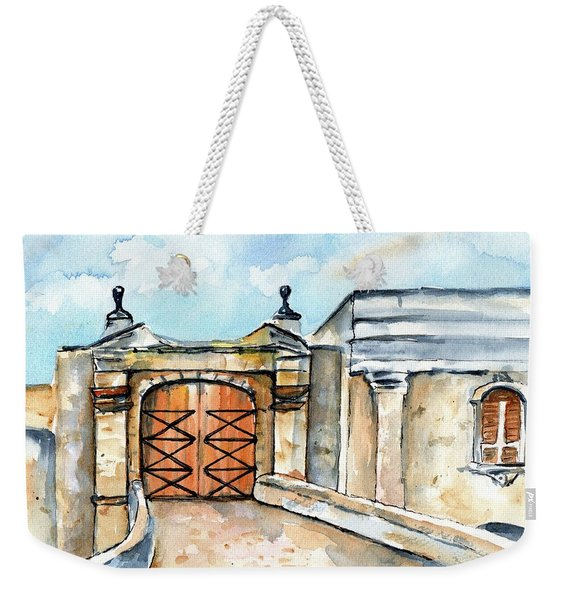 Castillo De San Cristobal Entry Gate Weekender Tote Bag