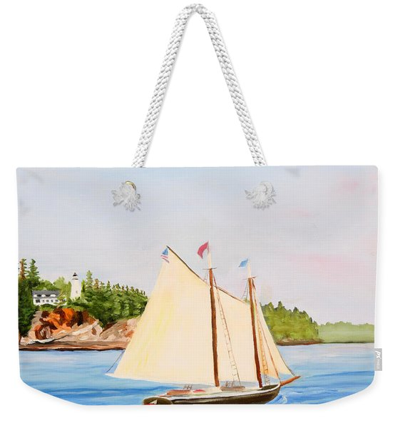 Castine Harbor And Dice Head Light Weekender Tote Bag