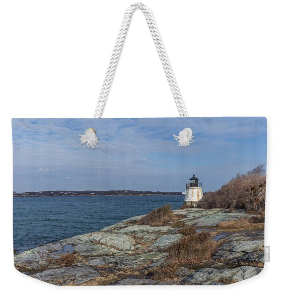 Castle Hill Lighthouse On Narragansett Bay Weekender Tote Bag