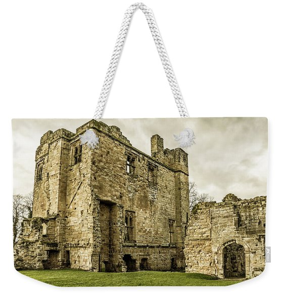 Weekender Tote Bag featuring the photograph Castle Of Ashby by Nick Bywater