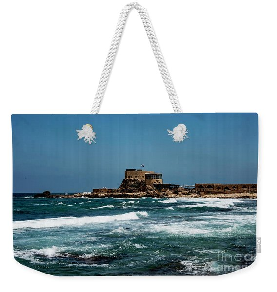 Weekender Tote Bag featuring the photograph Castle Of Herod The Great by Mae Wertz