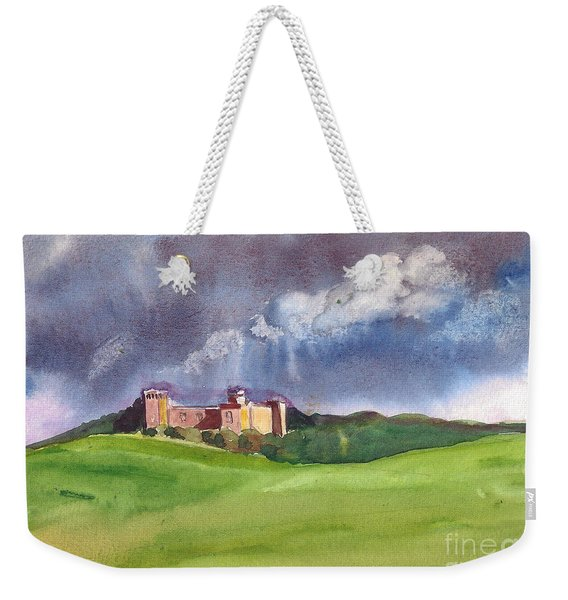 Castle Under Clouds Weekender Tote Bag